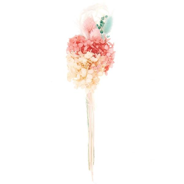 Bouquet de fleurs séchées - Pastel Turquoise - 30 cm - Photo n°1