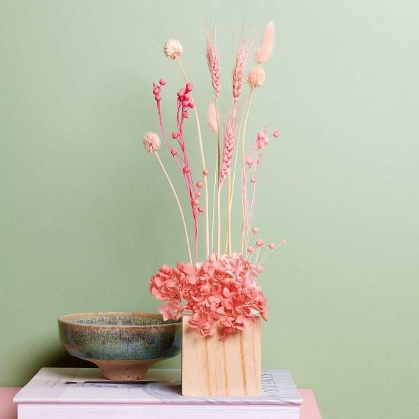 Bouquet de fleurs séchées - Pastel Rose - 30 cm - Photo n°4