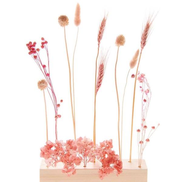 Bouquet de fleurs séchées - Pastel Rose - 30 cm - Photo n°5