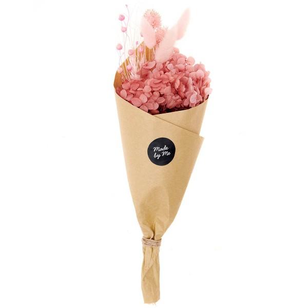 Bouquet de fleurs séchées - Pastel Rose - 30 cm - Photo n°6