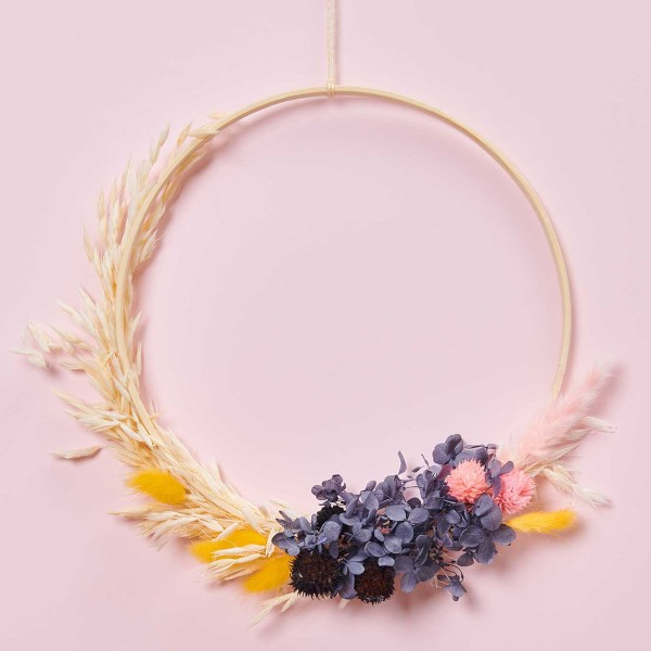 Bouquet de fleurs séchées - Pastel Noir - 30 cm - Photo n°2