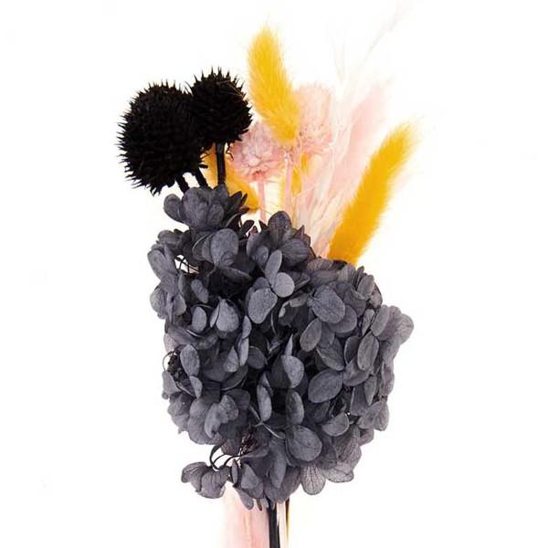 Bouquet de fleurs séchées - Pastel Noir - 30 cm - Photo n°3