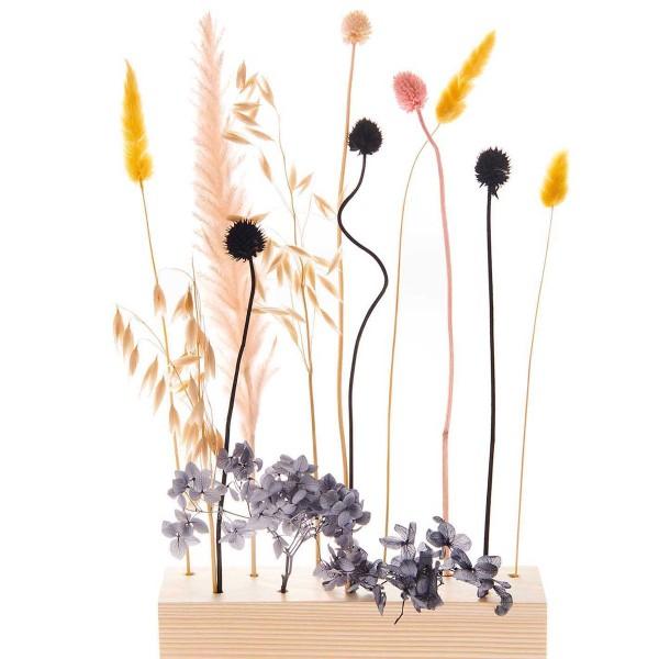 Bouquet de fleurs séchées - Pastel Noir - 30 cm - Photo n°4