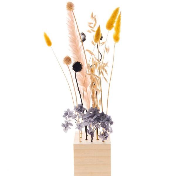 Bouquet de fleurs séchées - Pastel Noir - 30 cm - Photo n°5