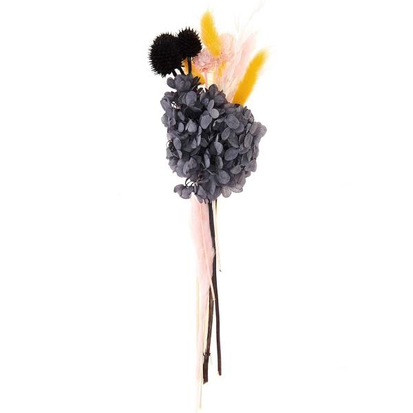 Bouquet de fleurs séchées - Pastel Noir - 30 cm - Photo n°1