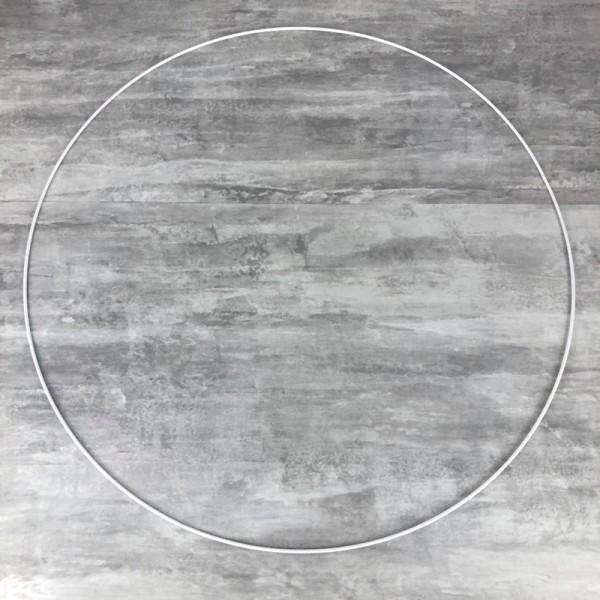 Très Grand Cercle XXL métallique blanc diam. 100 cm pour abat-jour, Anneau epoxy blanc Attrape rêves - Photo n°1