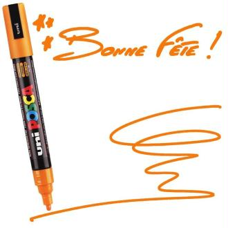 Marqueur Posca pointe conique moyenne 2,5 mm Orange