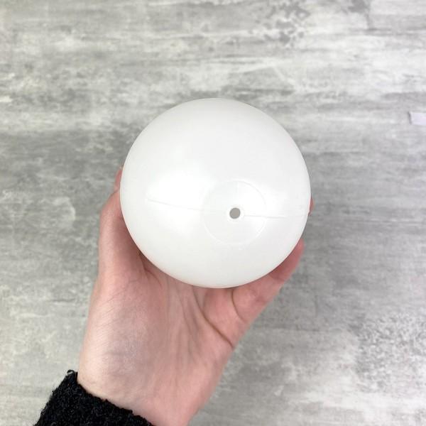 Lot de 10 Oeufs en plastique blanc, 10cm de haut, à décorer, avec trou de suspension, non séparables - Photo n°4