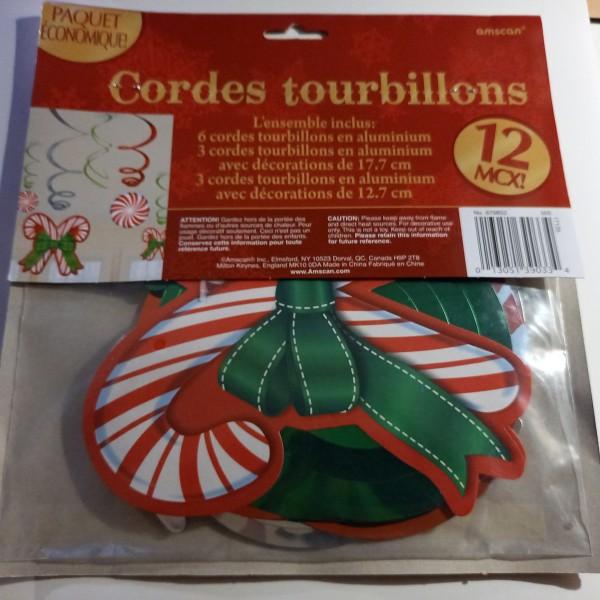 Suspensions cordes tourbillons , sachets de 12 décorations - Photo n°1