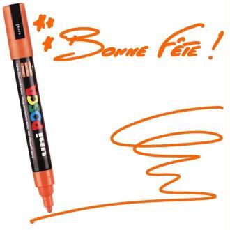 Marqueur Posca pointe conique moyenne 2,5 mm Orange Foncé