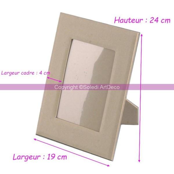 grand cadre photo en carton 24 cm de haut encart. Black Bedroom Furniture Sets. Home Design Ideas