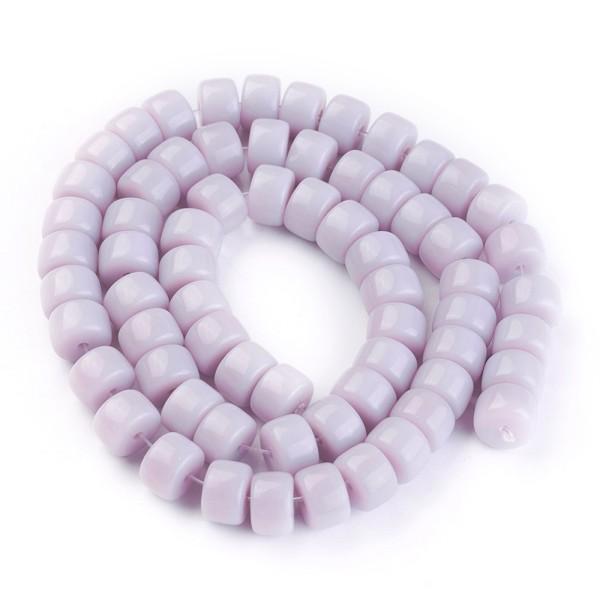 Perles en verre colonne 8 mm lavande x 20 - Photo n°2