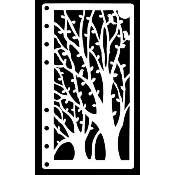 POCHOIR PLASTIQUE 17*8cm : arbre (06) - Photo n°1