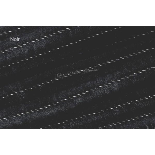 Fil chenille 8mmx50cm, lot de 10, Noir - Photo n°1