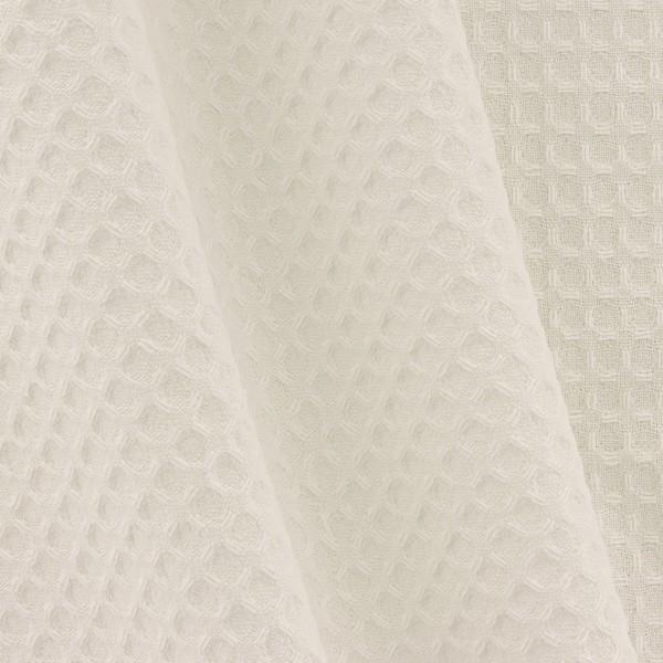 Tissu éponge en nid d'abeille - Ecru - Par 10 cm (sur mesure) - Photo n°4