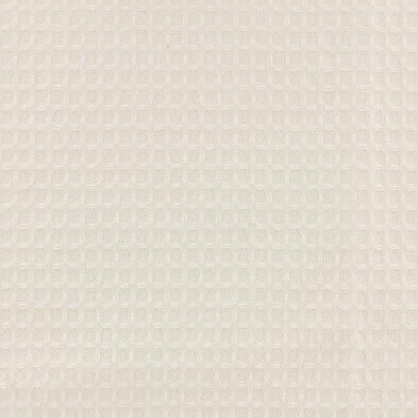 Tissu éponge en nid d'abeille - Ecru - Par 10 cm (sur mesure) - Photo n°1