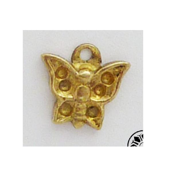Pendentif Papillon Vintage Des Années 50-60 En Laiton - Photo n°1