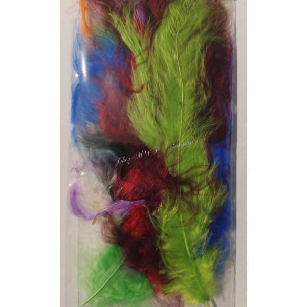 Assortiment de plumes de marabout mix couleurs - Photo n°2