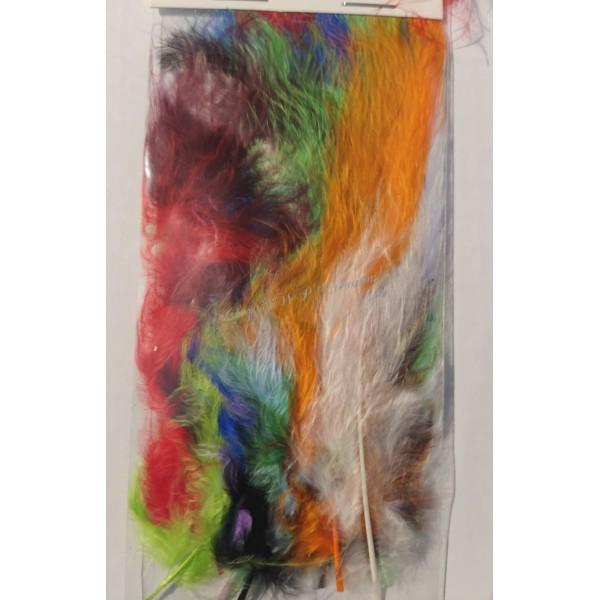Assortiment de plumes de marabout mix couleurs - Photo n°3