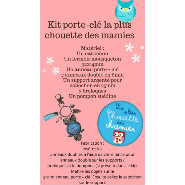 La Plus Chouette des Mamies Kit Porte-Clé - Photo n°1