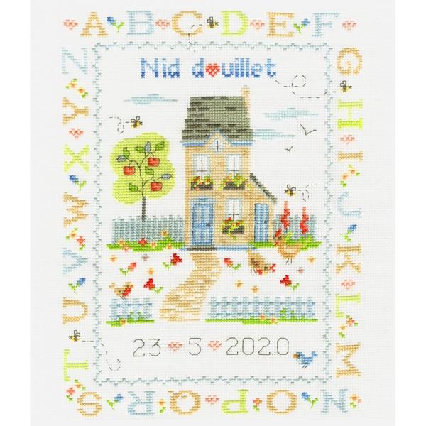 Kit broderie point de croix - Nid douillet - 21 x 28 cm - Photo n°2