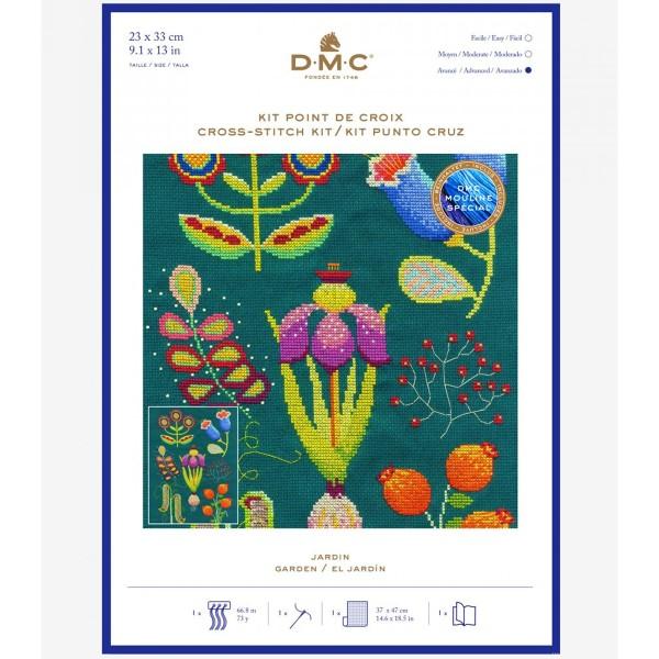 Kit broderie point de croix - Jardin botanique - 23 x 33 cm - Photo n°1