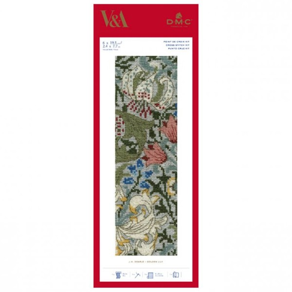 Kit broderie Marque-Page - Lys - 19,5 x 6 cm - Photo n°1