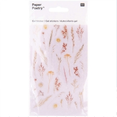 Stickers gel Rico Design - Fleurs des champs - 36 pcs