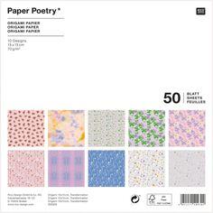 Papier Origami Rico Design - Collection Transformation - 15 x 15 cm - 50 feuilles