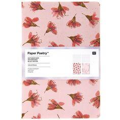 Lot de carnets de note A5 - Fleurs de cerisier - 14,5 x 21 cm - 2 pcs
