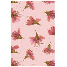 Bloc notes A5 - Fleurs de cerisier - 14,8 x 21 cm - 50 pages