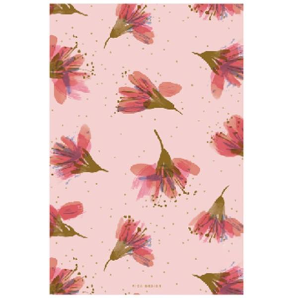 Bloc notes A5 - Fleurs de cerisier - 14,8 x 21 cm - 50 pages - Photo n°1