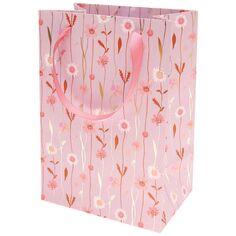 Sac cadeau en papier Moyen Modèle - Fleurs des champs - 18 x 26 x 12 cm - 1 pce