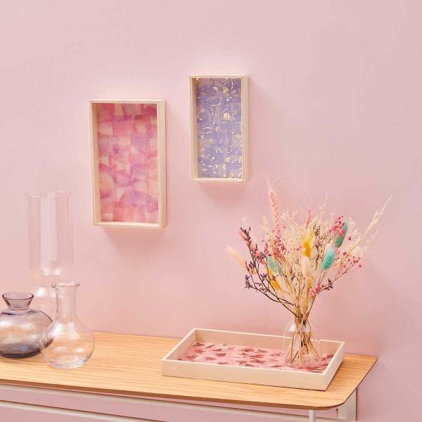 Paper Patch - Motif floral Lilas et Doré - 30 x 42 cm - 3 feuilles - Photo n°4
