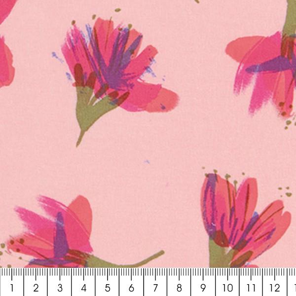 Tissu Toile de coton Transformation Rico Design - Fleurs de cerisier - Vendu par 10 cm - Photo n°3