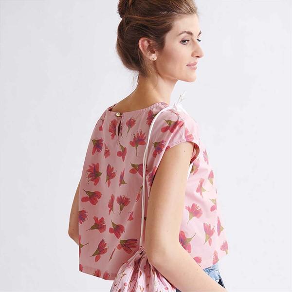 Tissu Toile de coton Transformation Rico Design - Fleurs de cerisier - Vendu par 10 cm - Photo n°5
