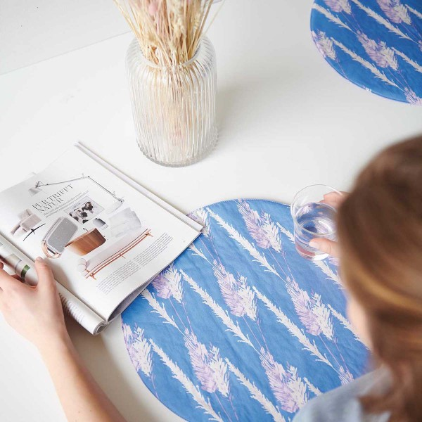 Tissu Toile de coton Transformation Rico Design - Herbe de Pampa - Vendu par 10 cm - Photo n°3