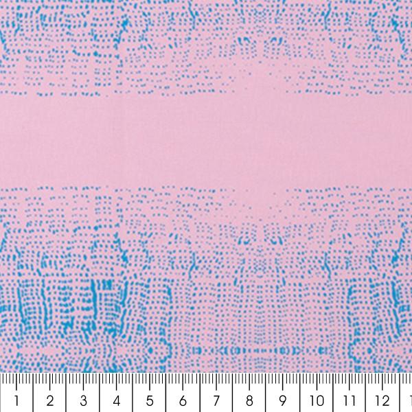Tissu Toile de coton Transformation Rico Design - Blur Rose et Bleu - Vendu par 10 cm - Photo n°3