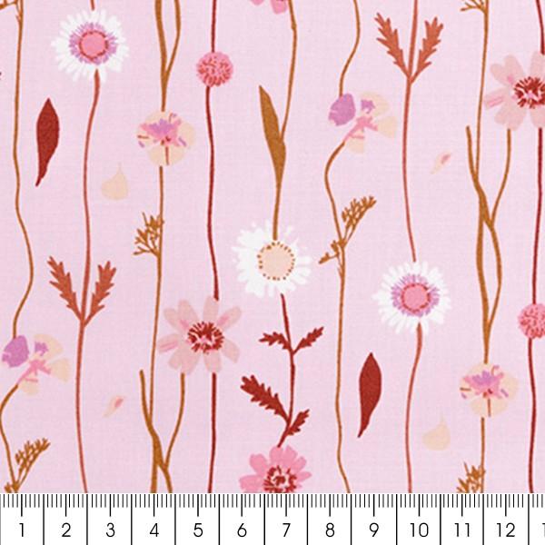 Tissu Toile de coton Transformation Rico Design - Fleurs des champs - Vendu par 10 cm - Photo n°3