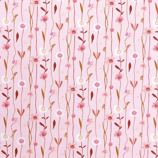 Tissu Toile de coton Transformation Rico Design - Fleurs des champs - Vendu par 10 cm - Photo n°1