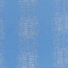 Tissu Gaze de coton Transformation Rico Design - Bleu Azur détails dorés - Vendu par 10 cm