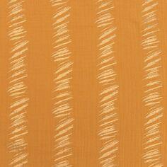Tissu Gaze de coton Transformation Rico Design - Moutarde détails dorés - Vendu par 10 cm
