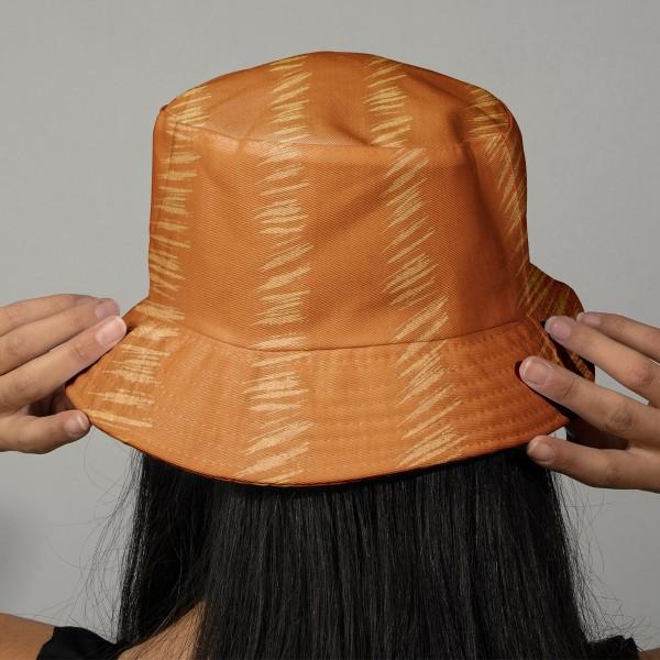 Tissu Gaze de coton Transformation Rico Design - Moutarde détails dorés - Vendu par 10 cm - Photo n°2