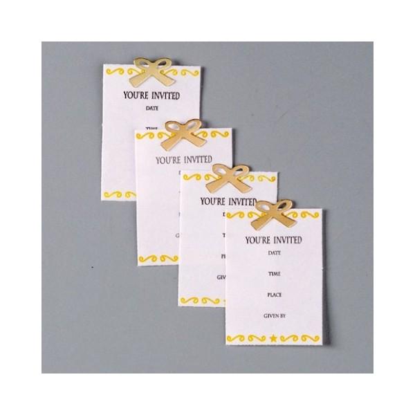 Gros Lot de 24 Stickers autocollants 3D Jolee's motif Carton d'Invitation, 38x27 mm,Autocollants rel - Photo n°2