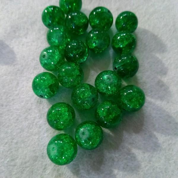 Vingt perles verre, 1cm - Photo n°1