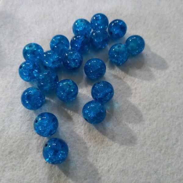 Vingt perles en verre, 1cm - Photo n°1