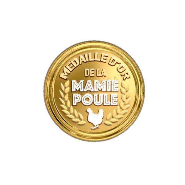 Médaille D'Or De La Mamie Poule 2 Cabochons - Photo n°1