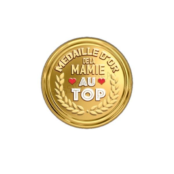 Médaille D'Or de la Mamie Au Top 2 Cabochons - Photo n°1