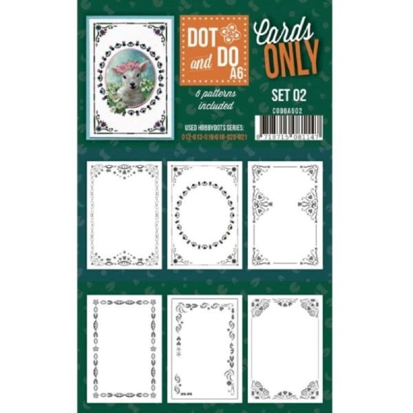 Dot and do Cartes A6 n°02 - Lot de 6 Cartes seules - Photo n°1