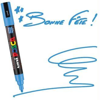 Marqueur Posca pointe conique moyenne 2,5 mm Bleu ciel